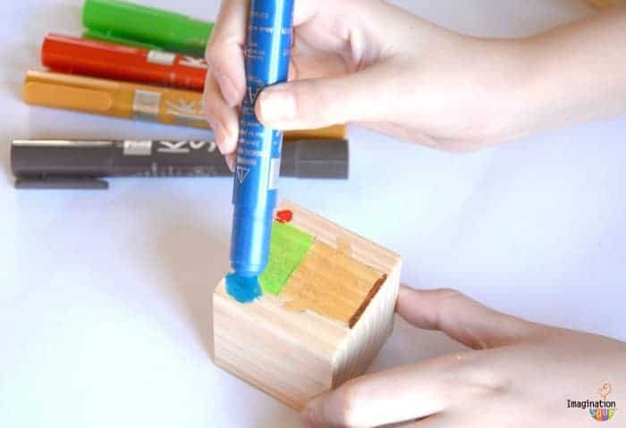 Christmas Crafts for Kids: Paint Mix and Match Blocks