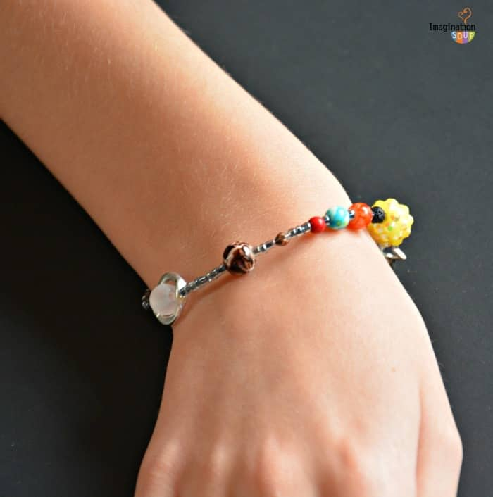 DIY Solar System Bracelet - great STEM stocking stuffer idea