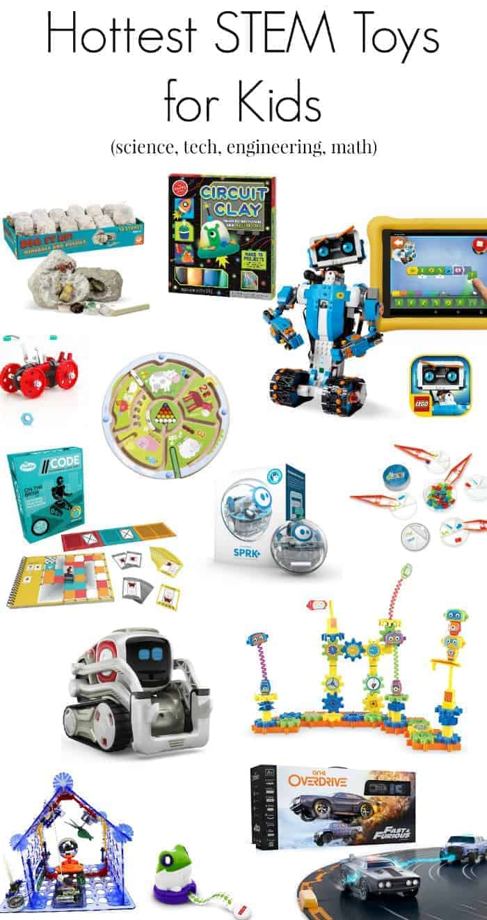 the top STEM toys for 2017 Christmas holiday gifts for kids (science, technology, engineering, math)