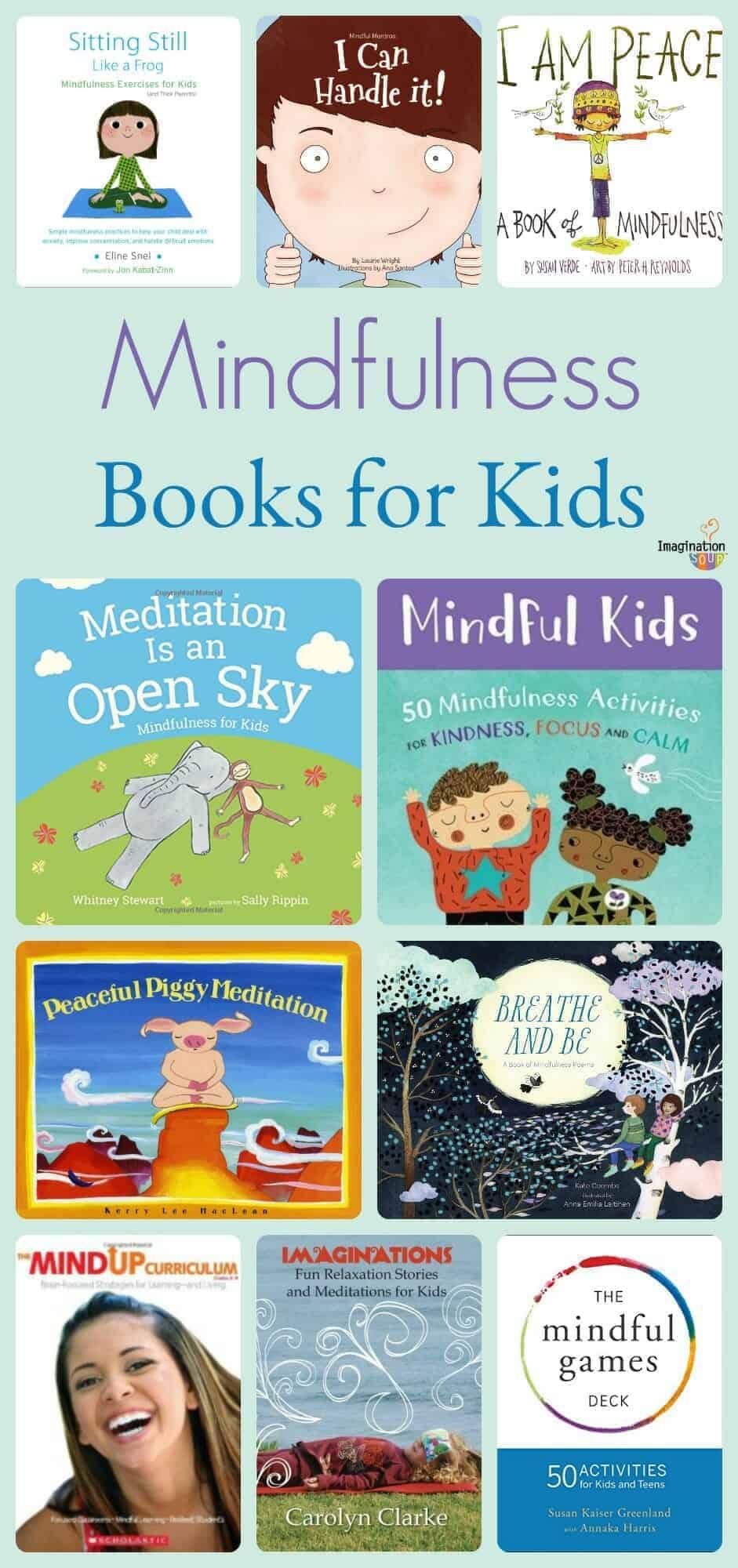 big list of mindfulness and meditation books for kids #kids #books #mindfulness