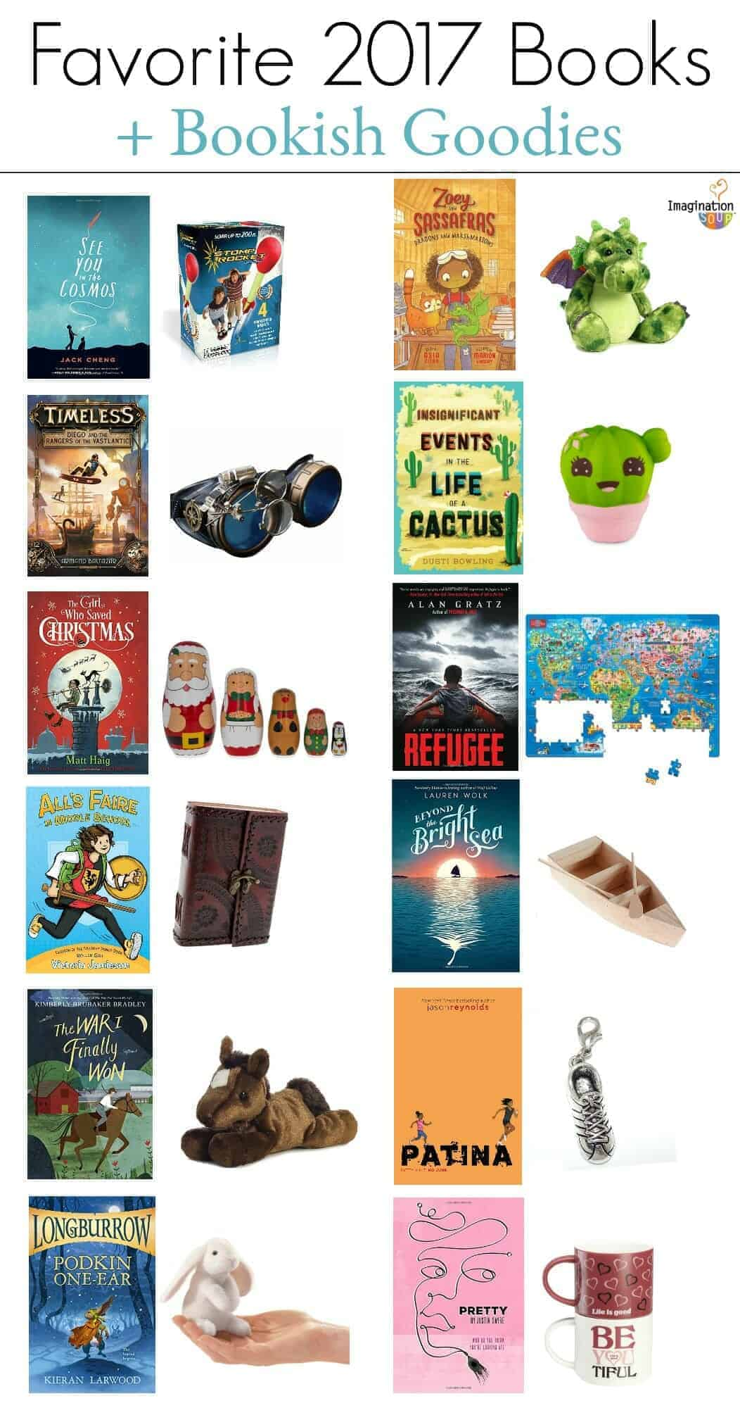 favorite chapter books from 2017 plus toys and goodies (diy book box)