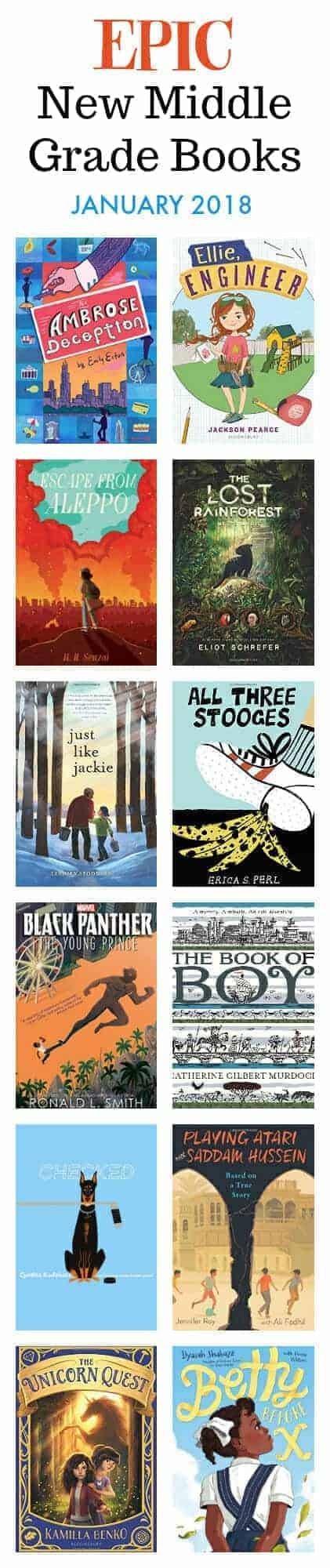 epic new middle grade chapter books fro readers ages 8 to 12, January 2018 #kids #books #childrensbooks