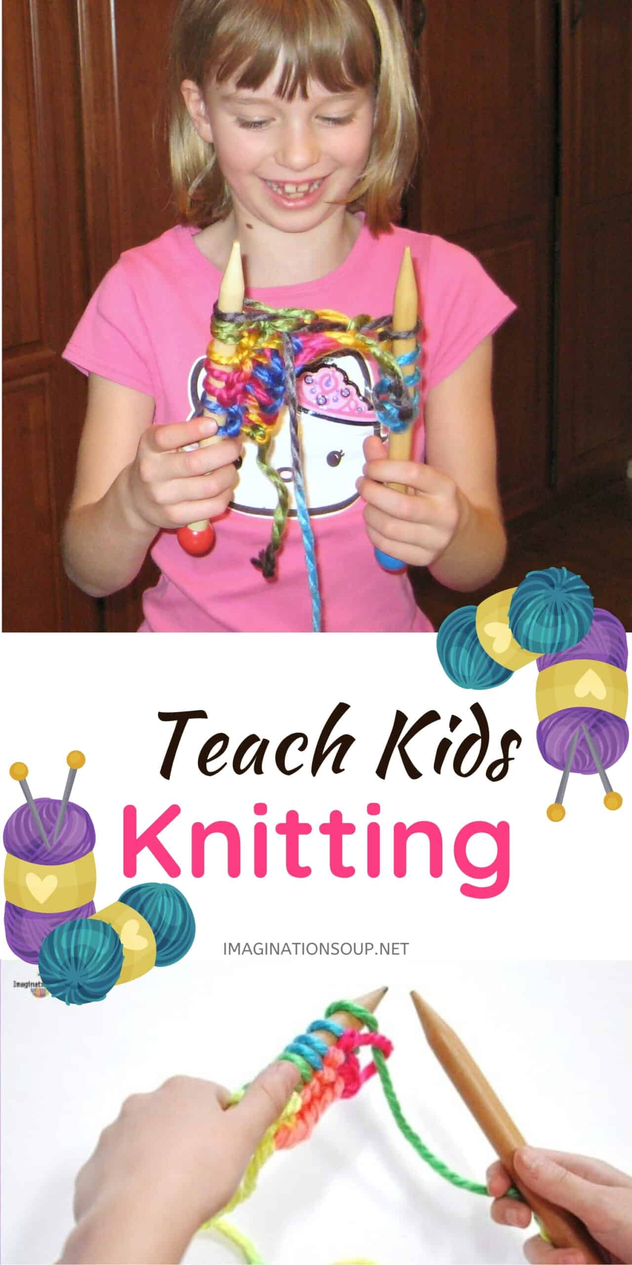 learn how to teach kids to knit