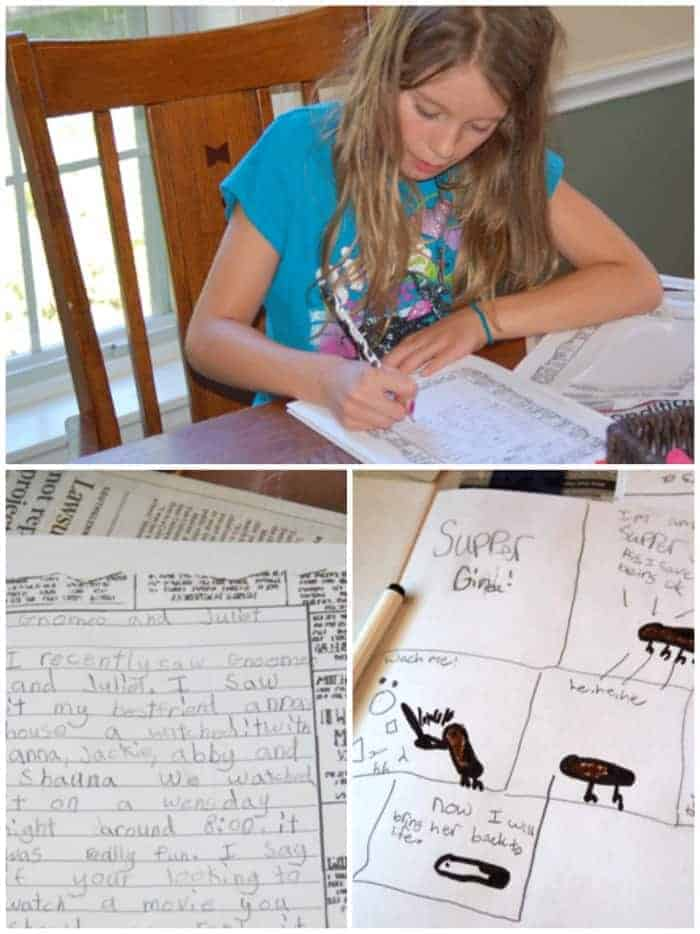 have your kids write a family newsletter this year