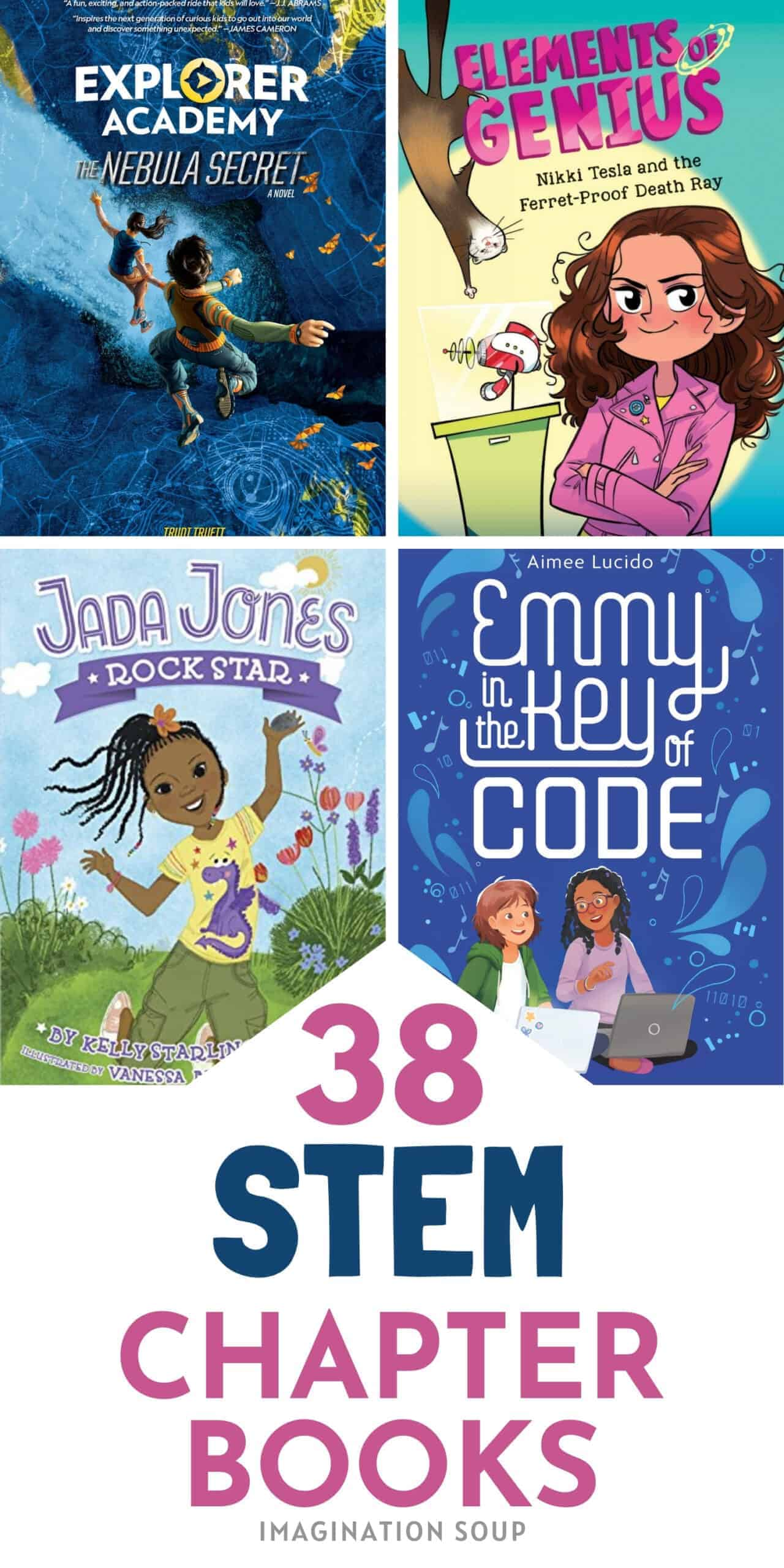 38 best STEM chapter books for kids ages 6 to 12