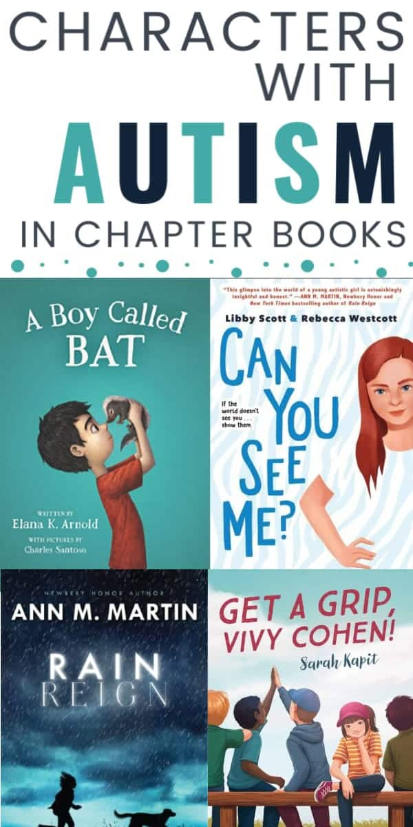 characters on the autism spectrum in chapter books