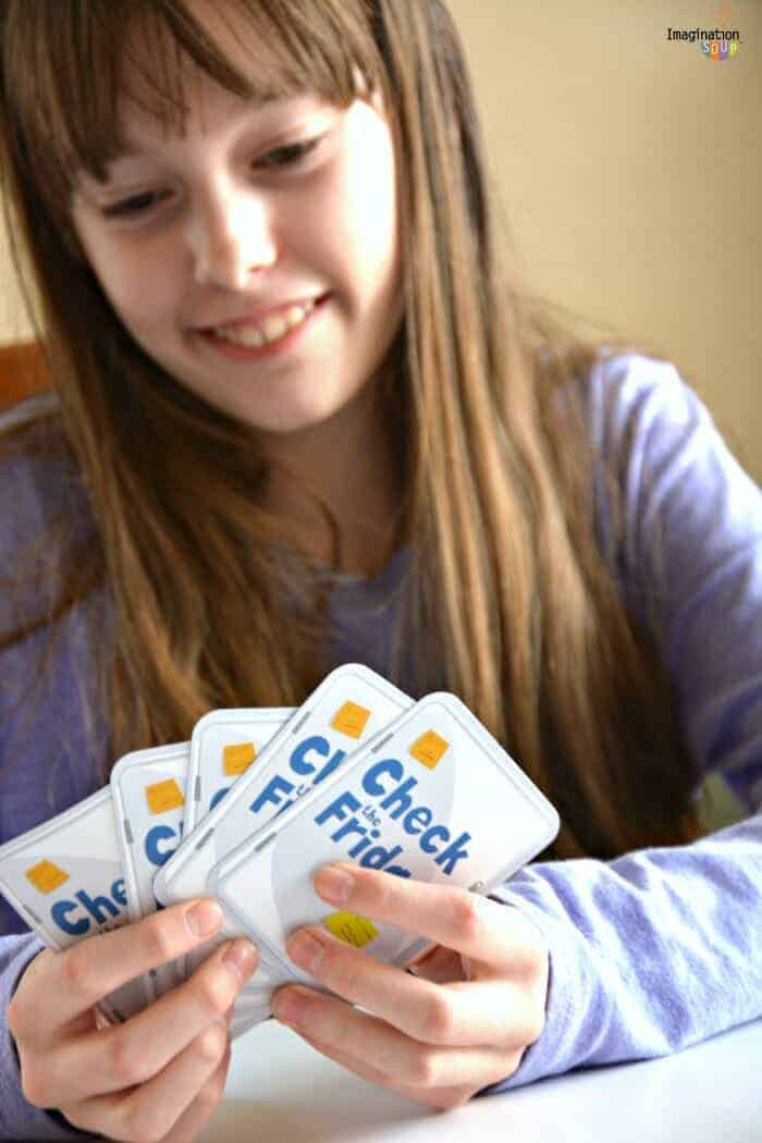 Check the Fridge -- a super fun family card game of addition and bluffing