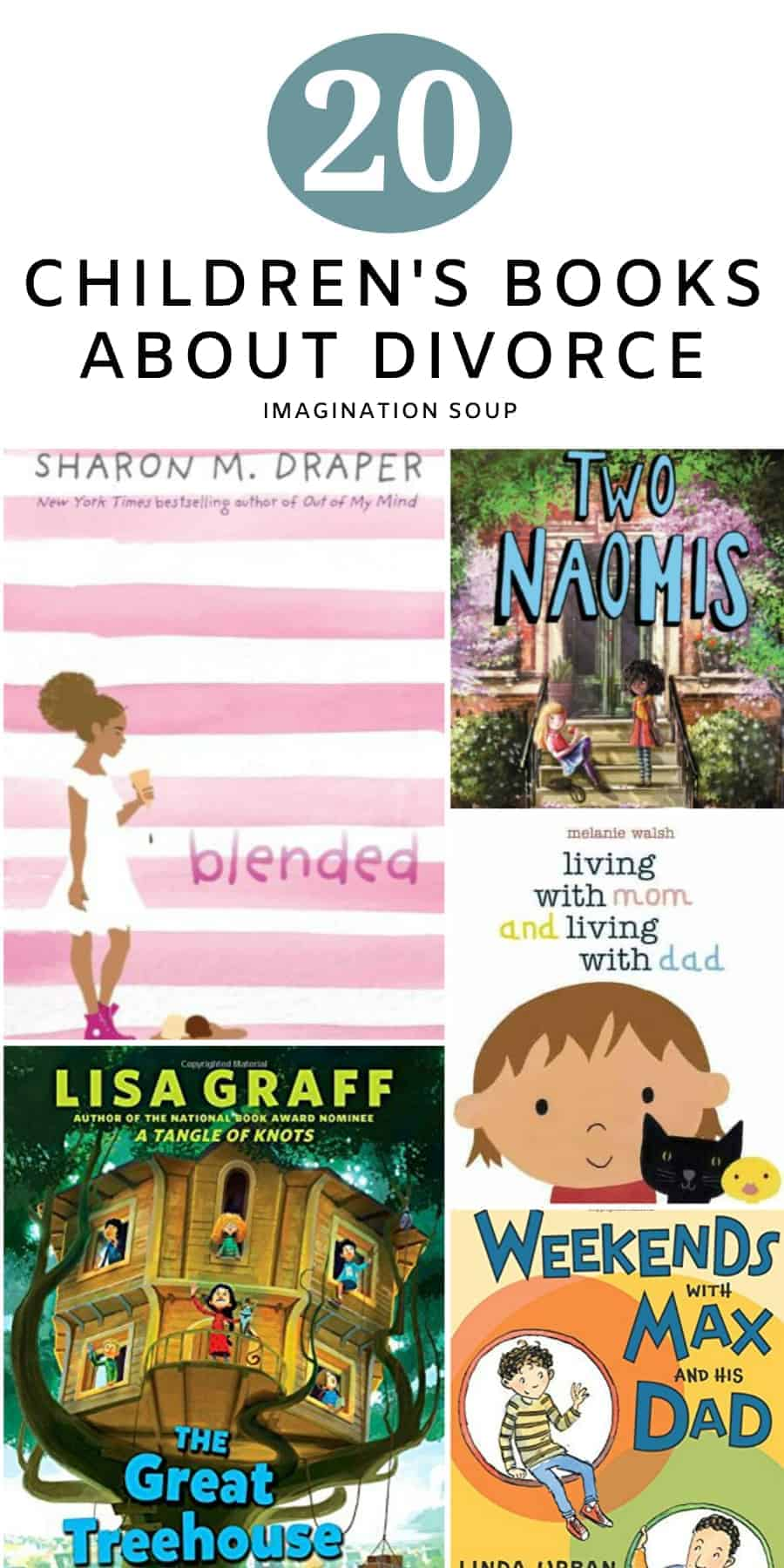 20 children's books about divorce and separation