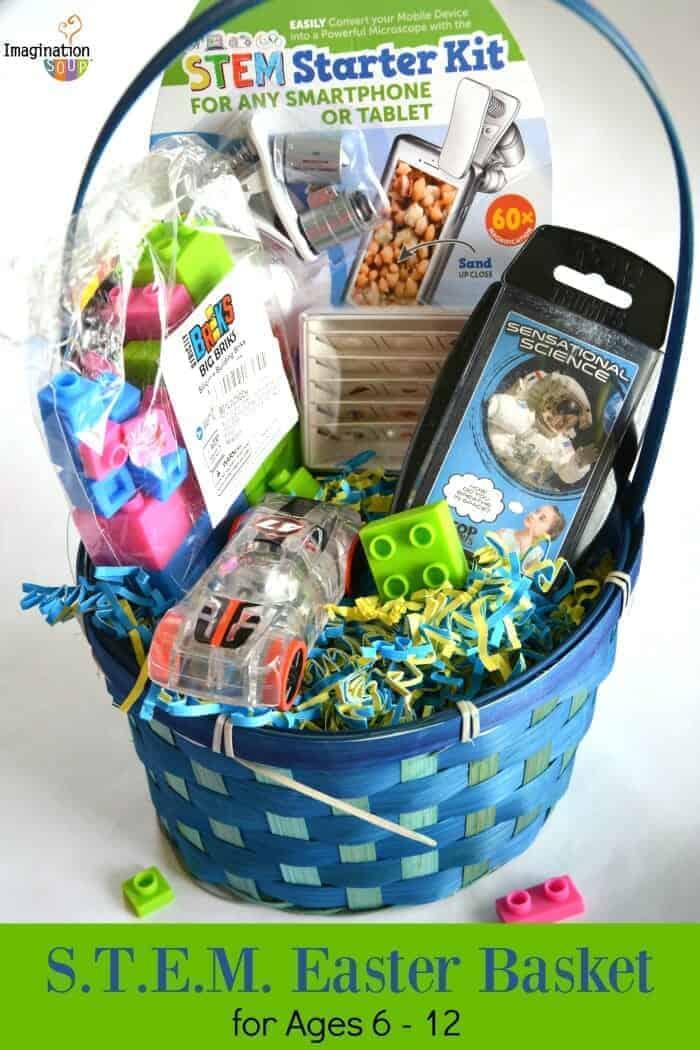 STEM themed Easter Basket for Kids Ages 6 - 12