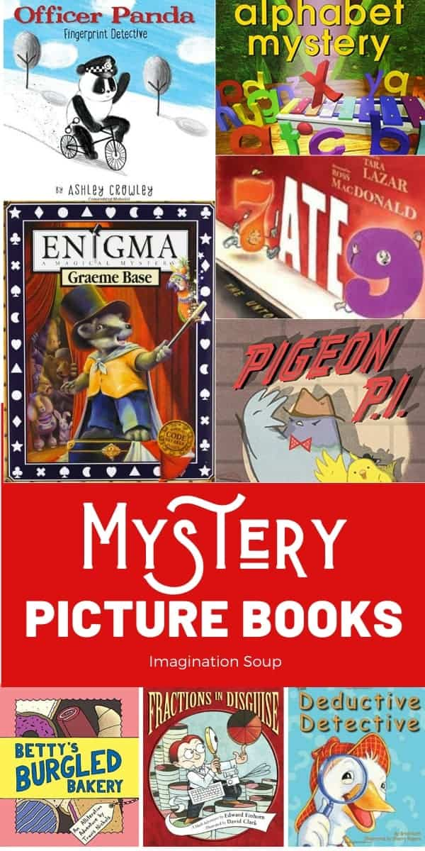 mystery picture books for preschool and elementary that develop thinking skills