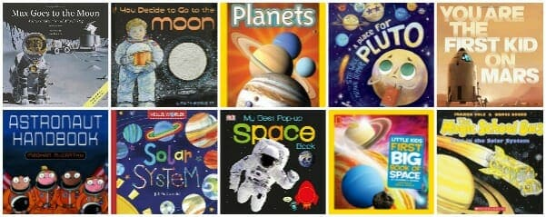 best children's books about space, solar system, astronauts, moon, stars