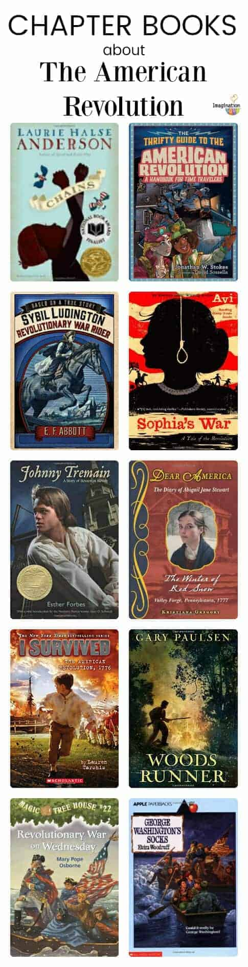 historical fiction chapter books about The American Revolution