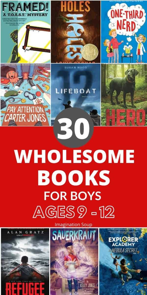 wholesome middle grade chapter books for boys ages 9 to 12