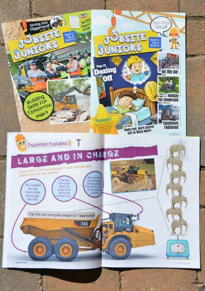 Get Excited About the World of Construction with Jobsite Juniors Magazine for Kids Ages 4 - 8