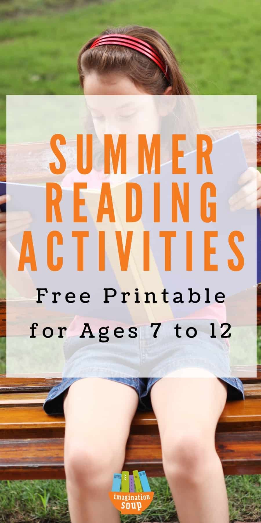Summer Reading Activities for Kids Free Printable
