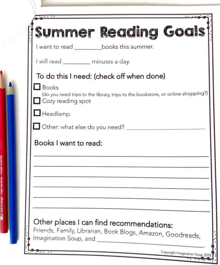 SUMMER reading goals