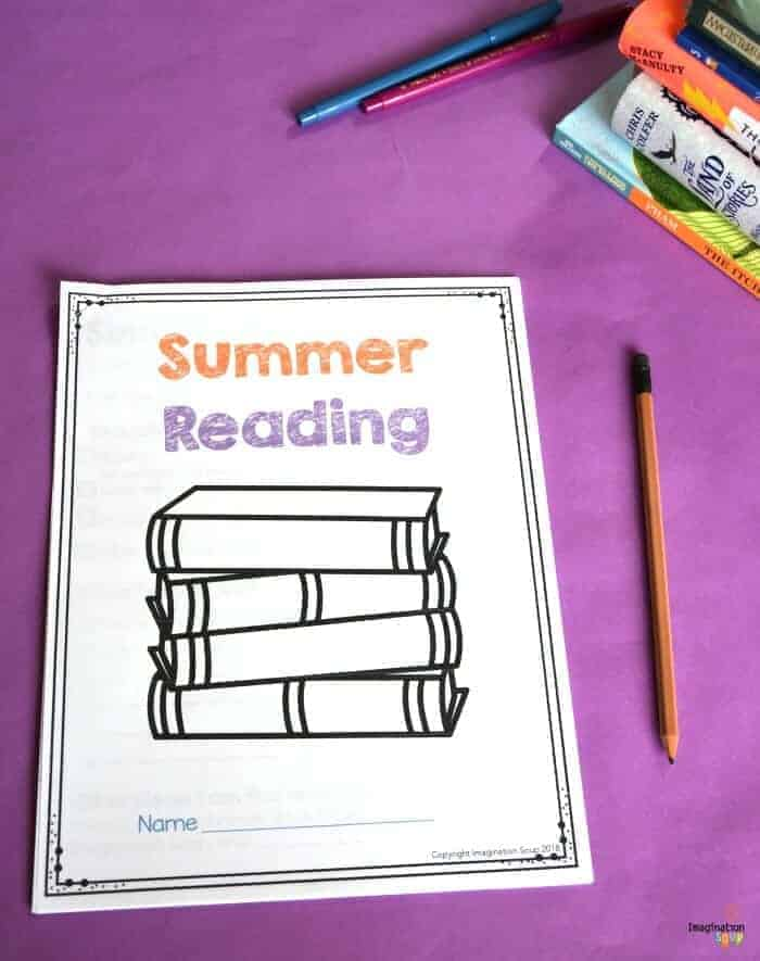 Summer Reading Printable Packet for Kids Ages 6 - 13