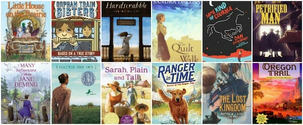best historical fiction chapter books about westward expansion and life in the western U.S.