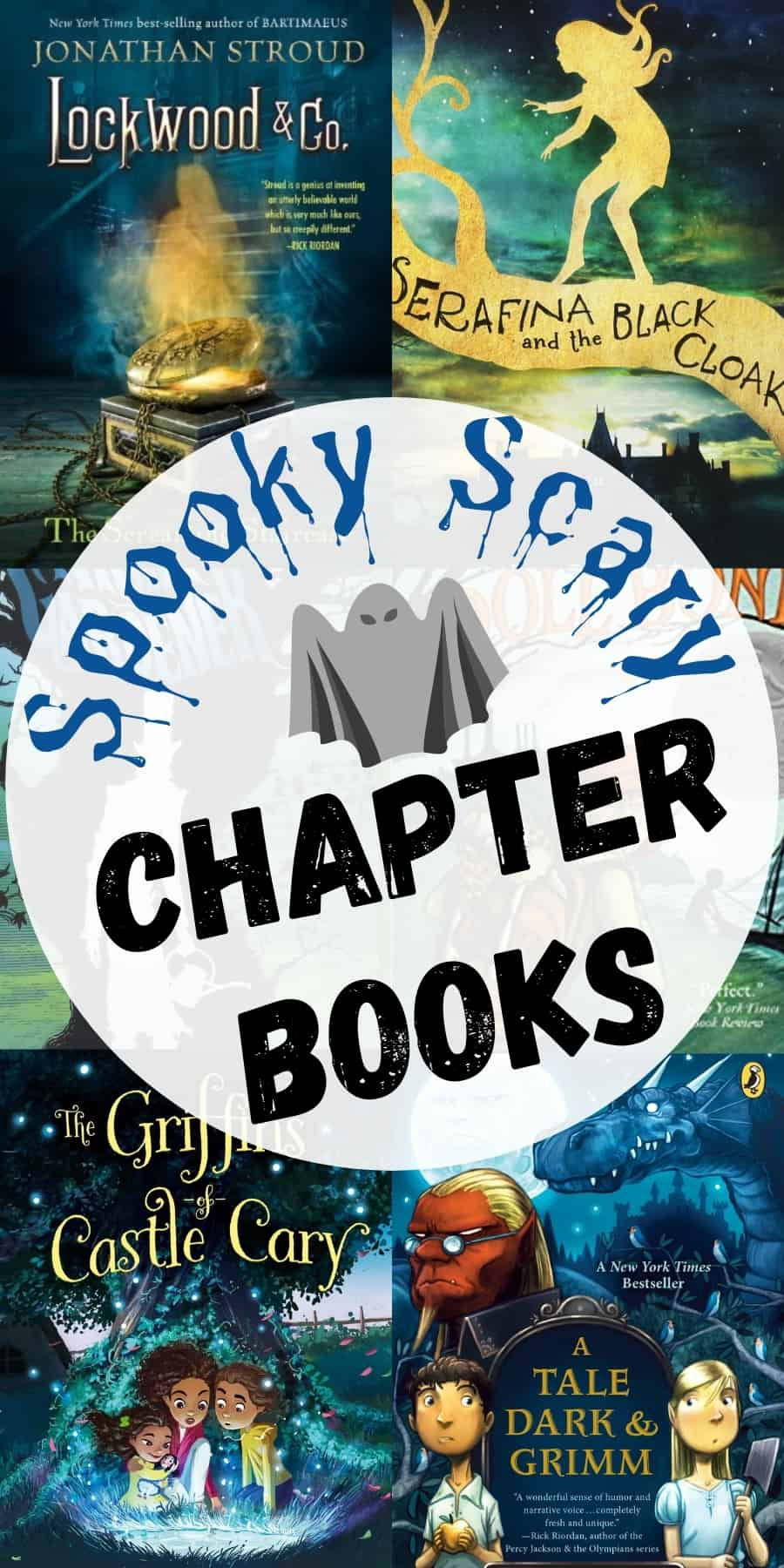 spooky scary chapter books pin