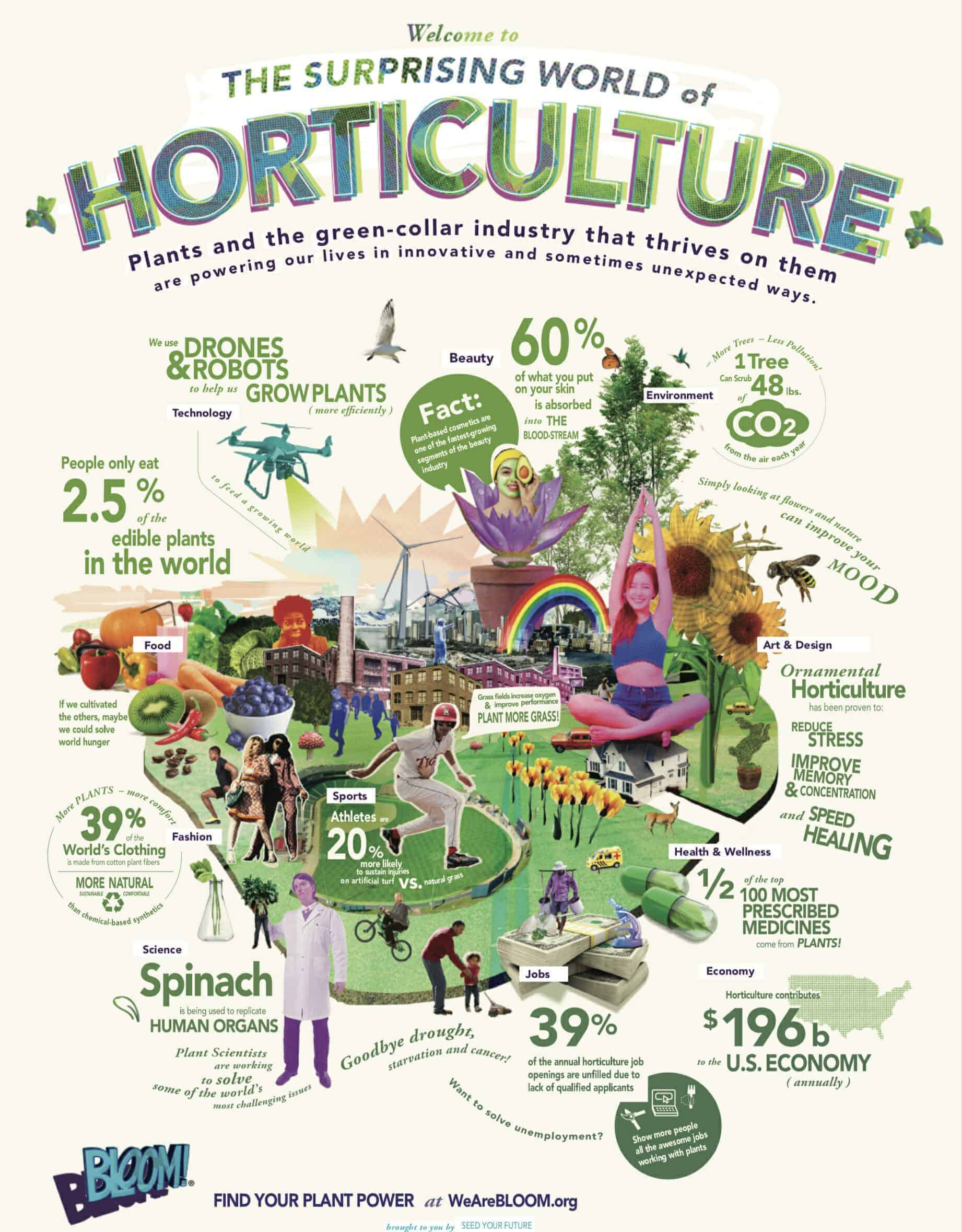 Surprising World of Horticulture BLOOM! Infographic