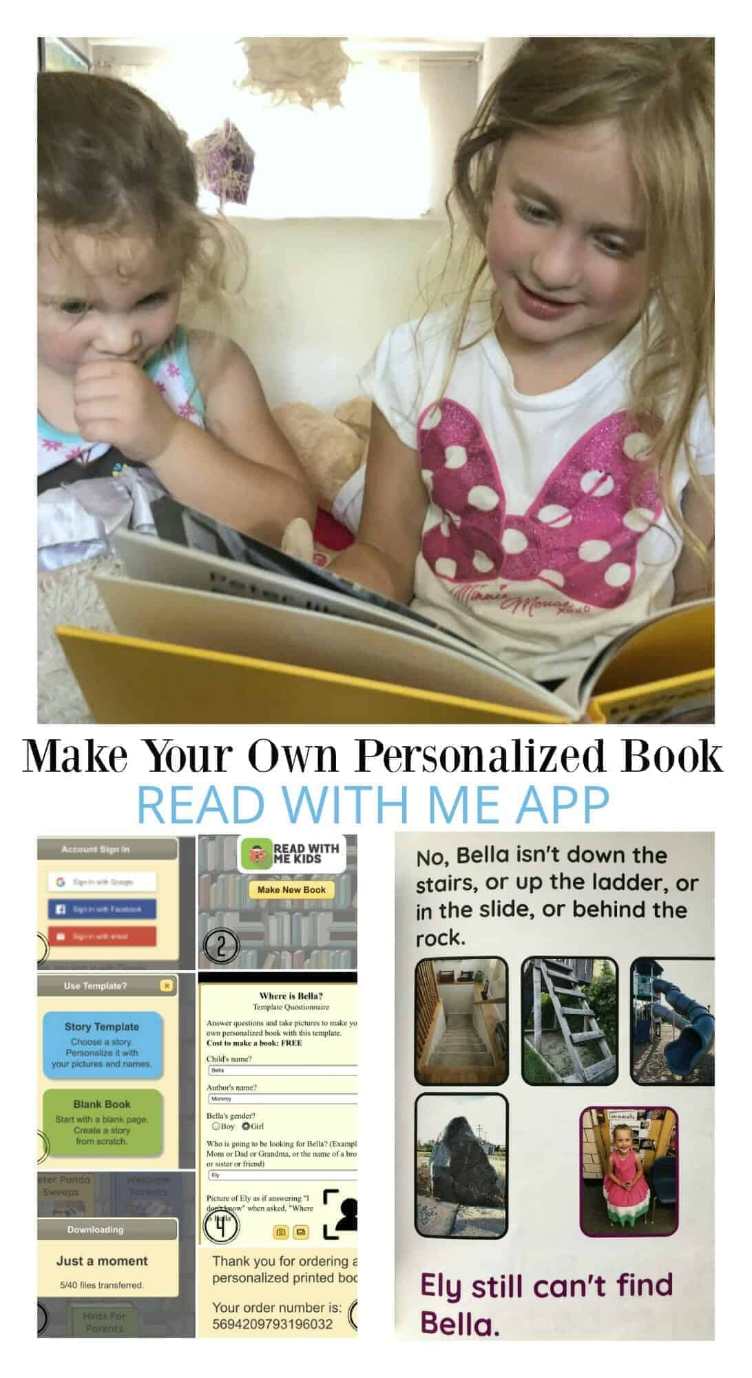 Make your own personalized book with Read With Me app