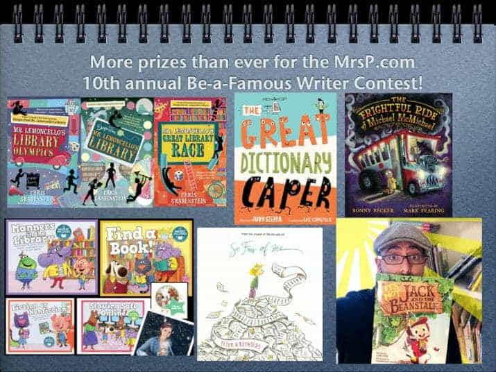 mrs. p be a famous writer contest 10th anniversary