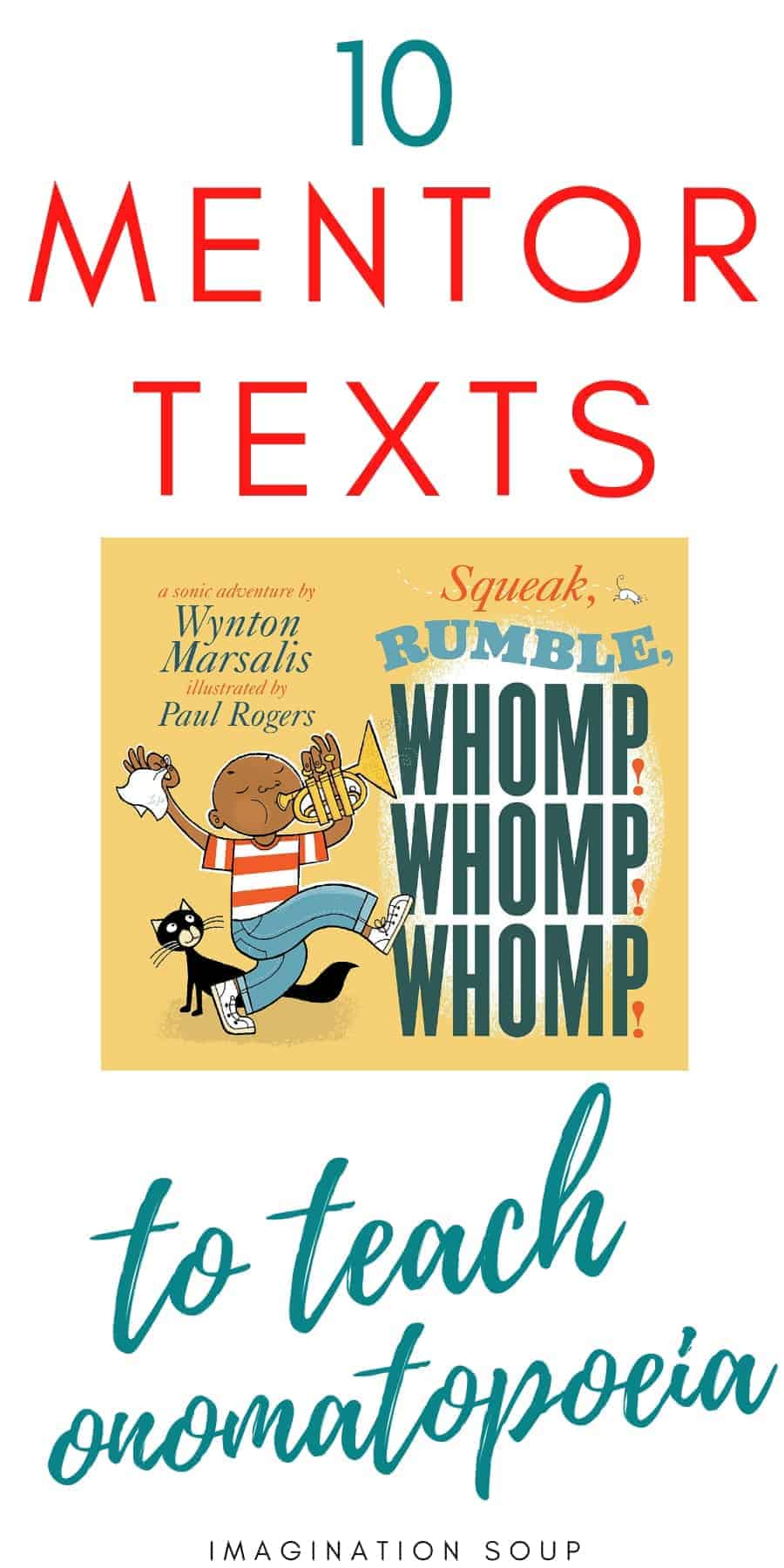 picture book mentor texts to teach onomatopoeia