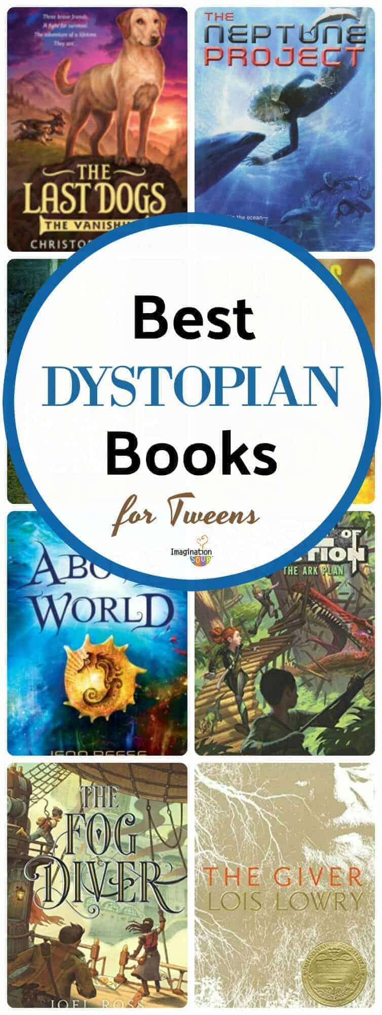 best dystopian middle grade chapter books for tweens (ages 9 - 12)