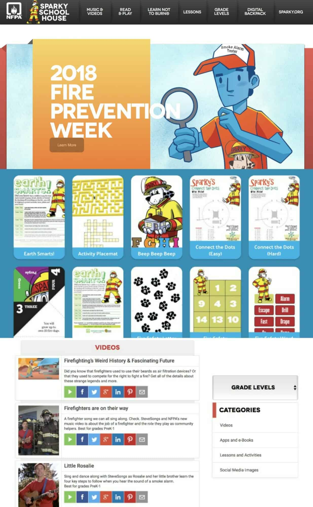 2018 Fire Prevention Week Resources for Parents and Teachers