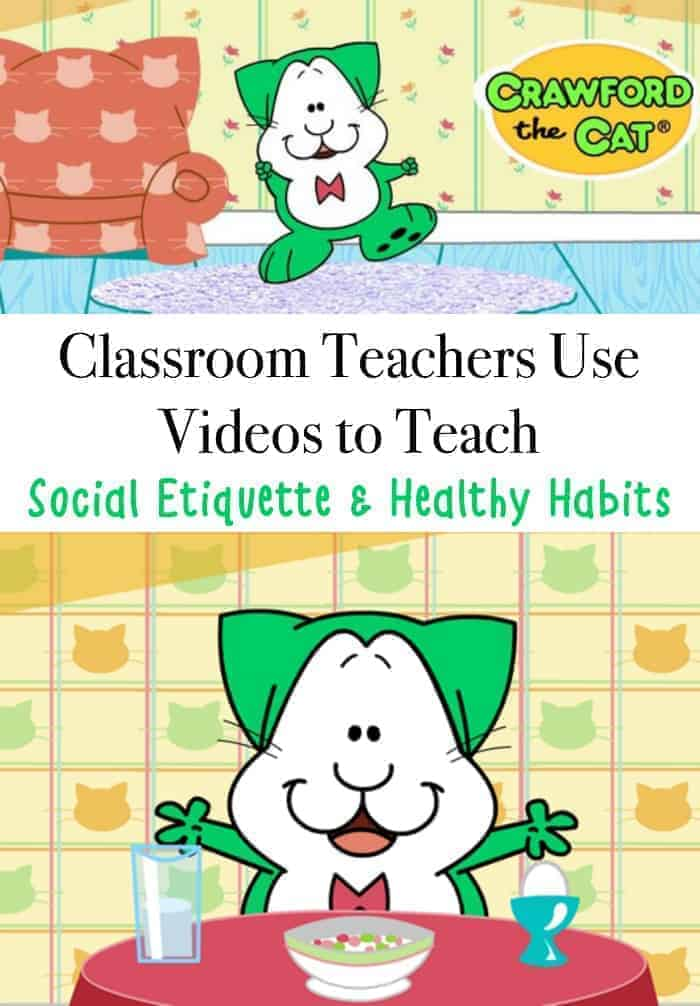 How teachers use Crawford the Cat videos in the classroom to teach social etiquette & Healthy Habits