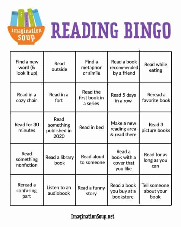 Reading Bingo Imagination Soup 2021