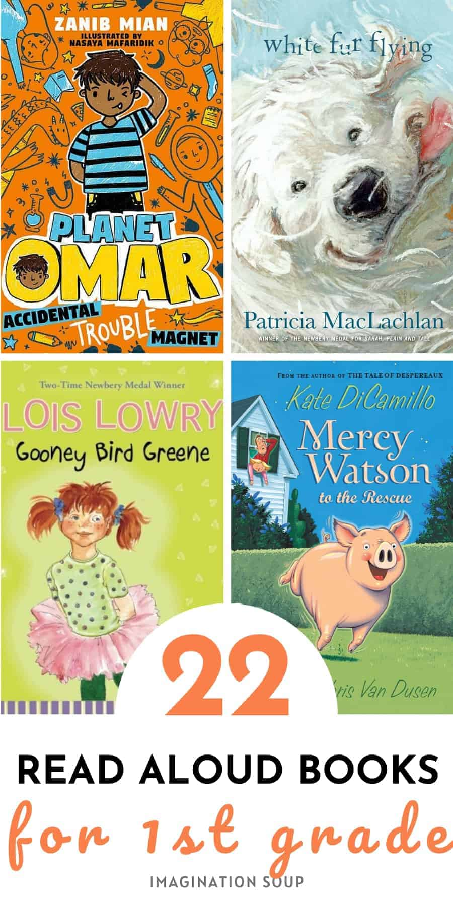 22 read aloud books for 1st grade