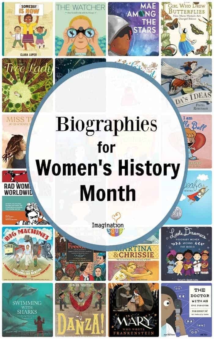 Best biographies for women's history month plus a printable list