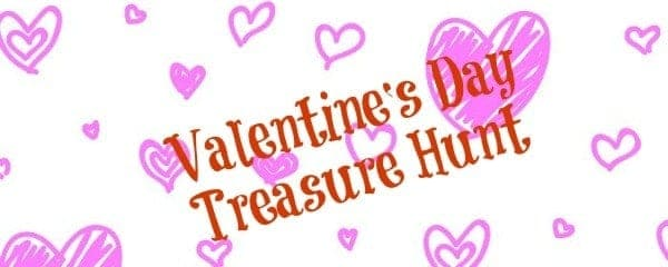 Valentine's Day printable treasure hunt for kids