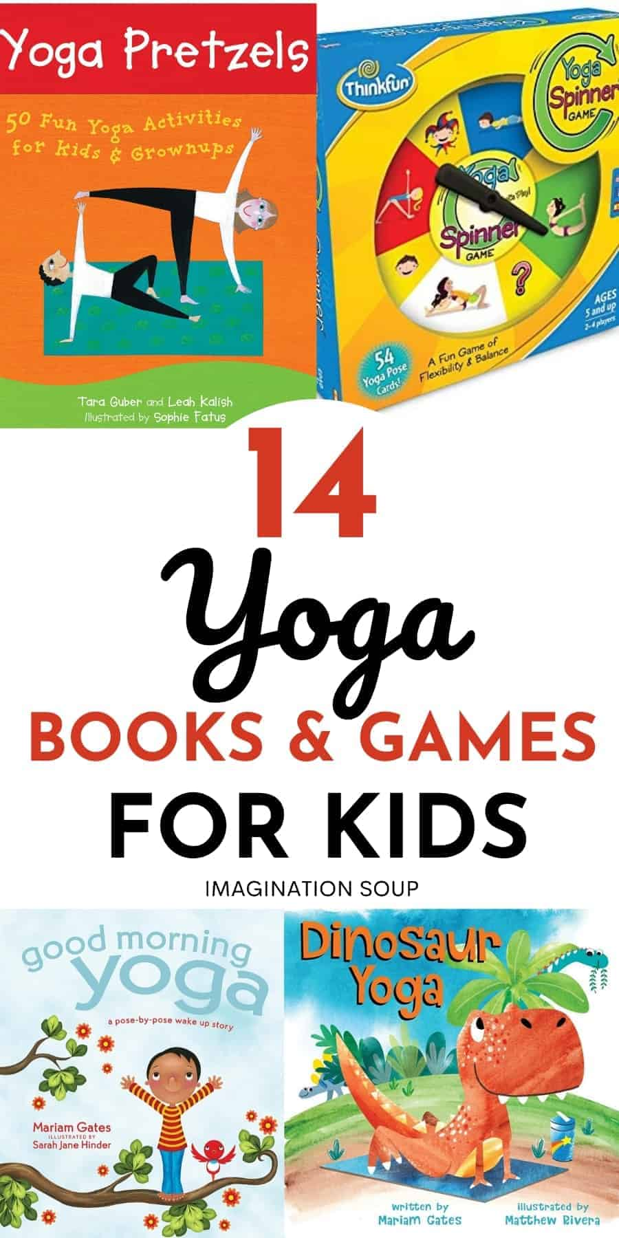 14 yoga books, games, and videos for kids
