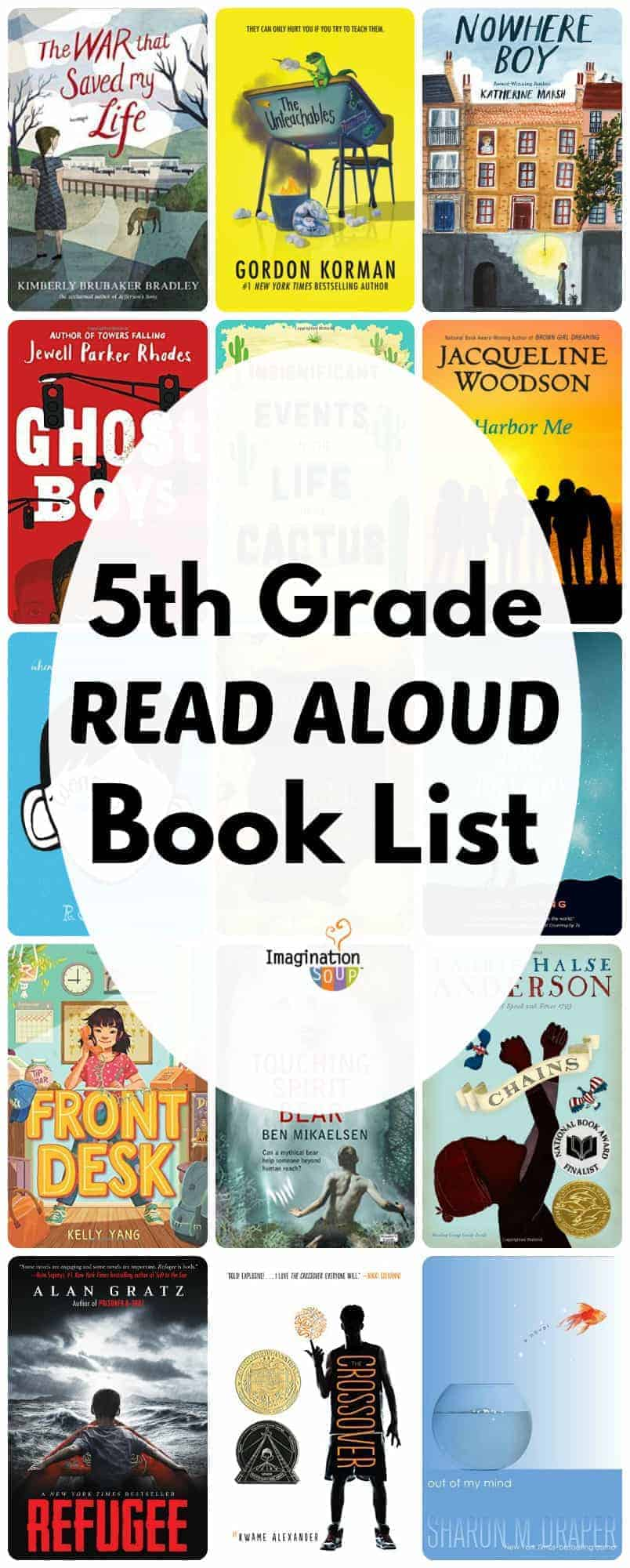 5th grade read aloud book list