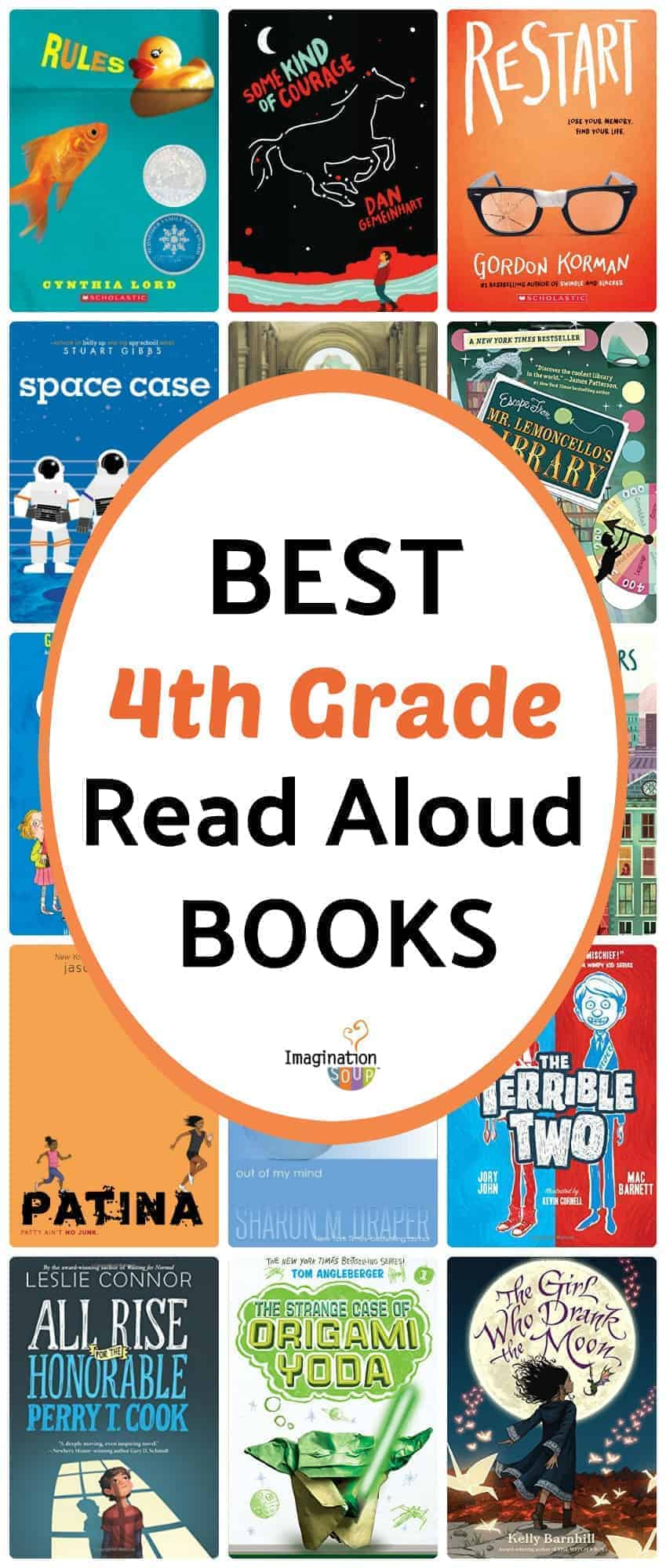 the best read aloud books for 4th grade (9 years old)