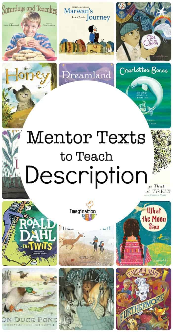 mentor text children's books to teach writing description with sensory images