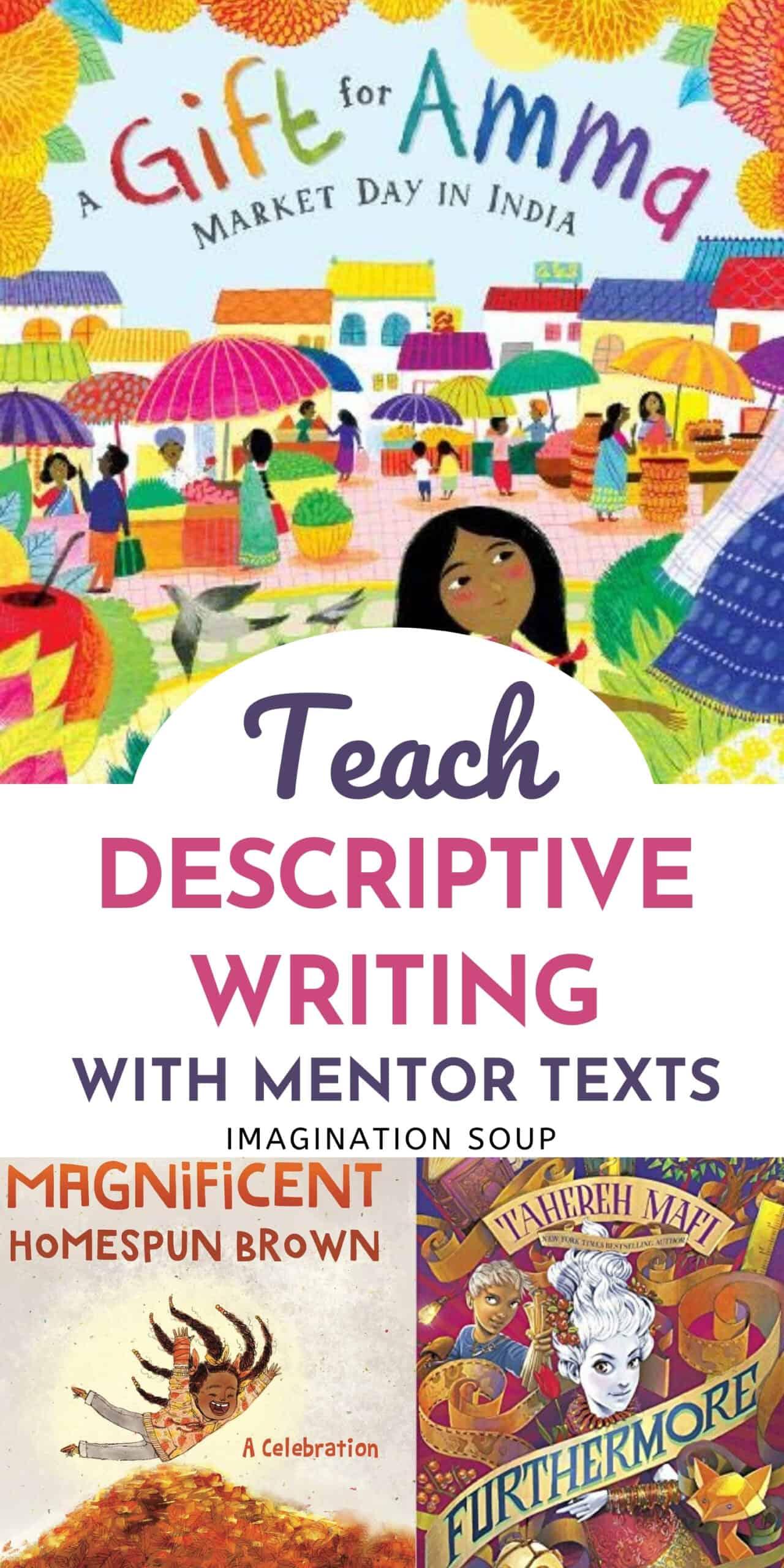mentor tests to teach writing description
