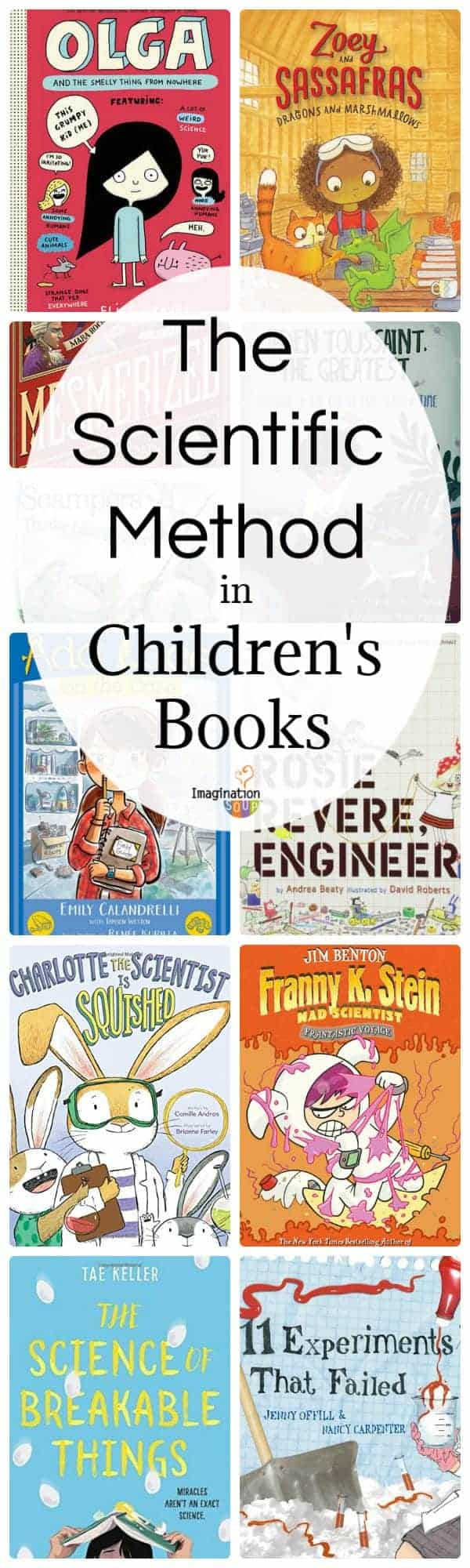 the scientific method in picture and chapter children's books