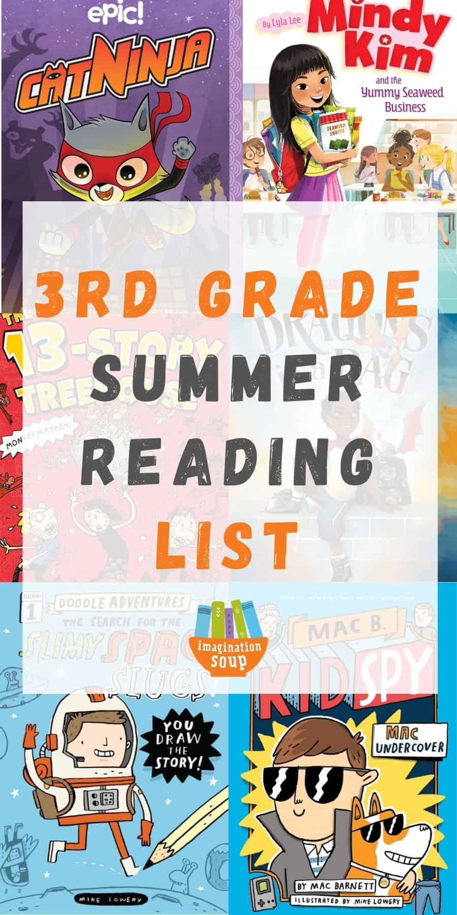 3rd grade summer book list for kids ages 8 and 9