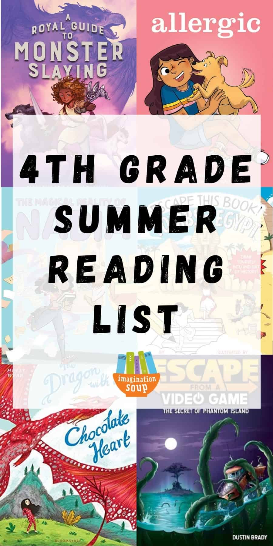 4th grade summer book list for kids ages 9 and 10
