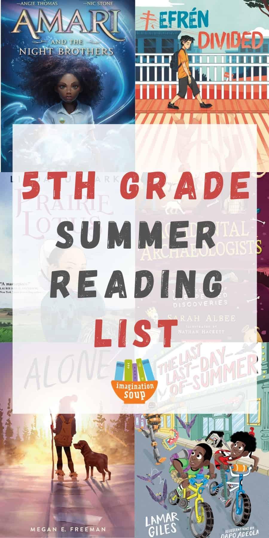 5th grade summer book list for kids