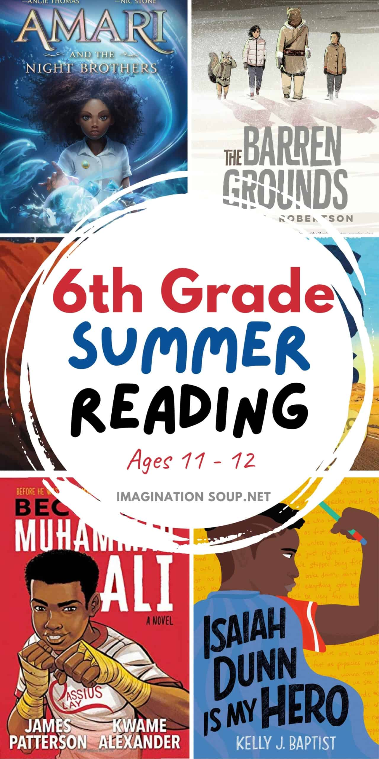 6th grade summer reading book list ages 11 and 12