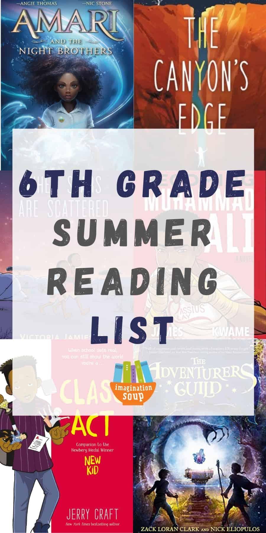 6th grade summer reading list -- good books for kids