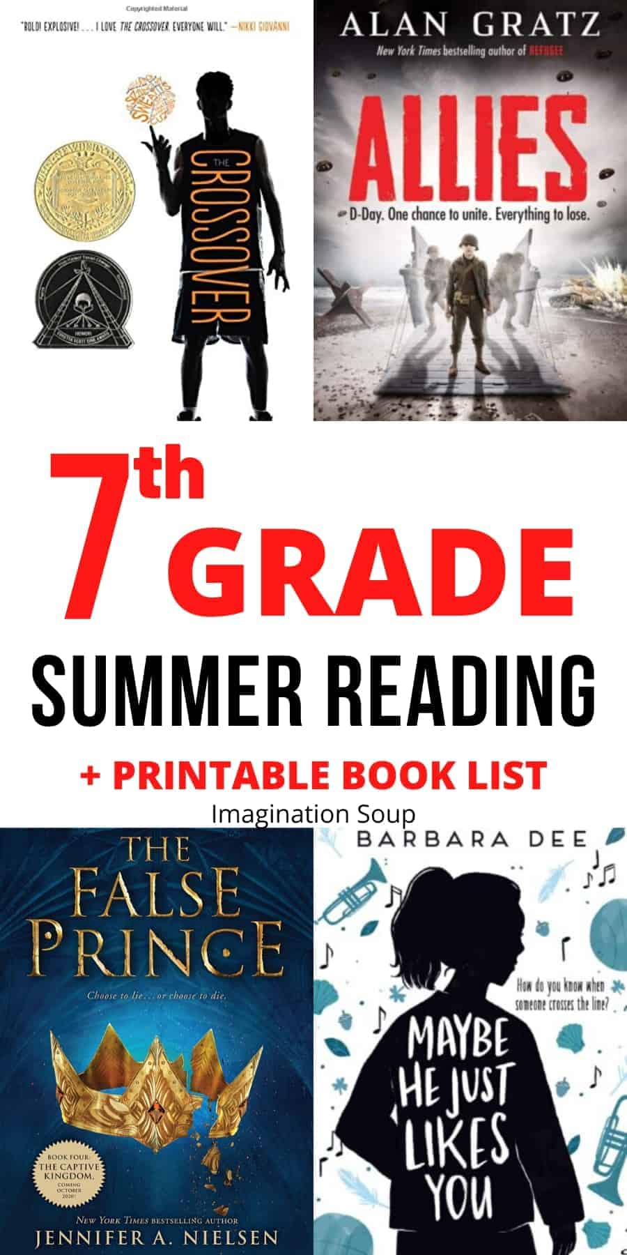 7th grade summer reading book list ages 12 and 13