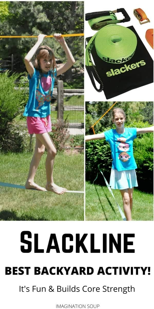 slackline backyard activity for kids