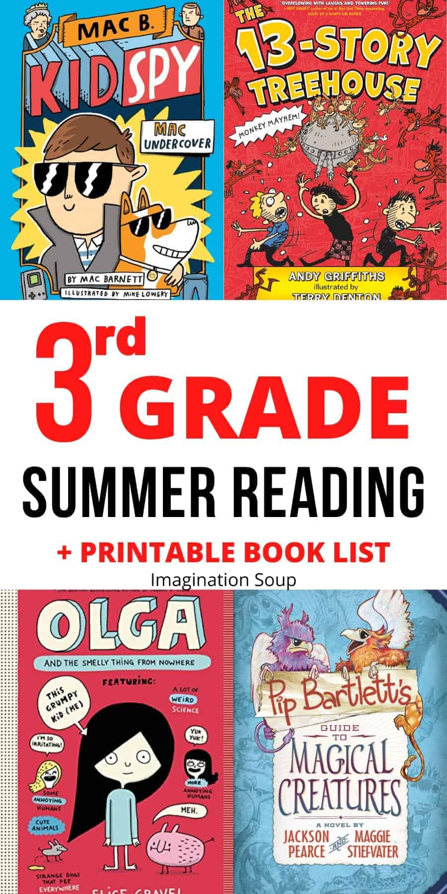 third grade 3rd summer reading book list for ages 8 and 9