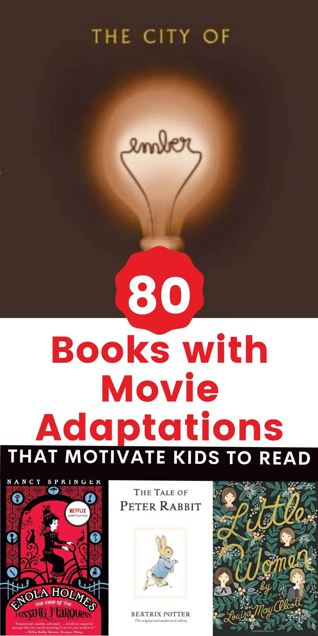 huge list of children's books with movie adaptations