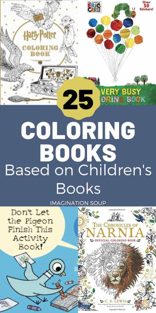 25 coloring books based on children's books